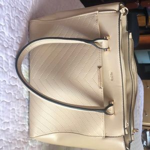 ALDO beige satchel in good condition!